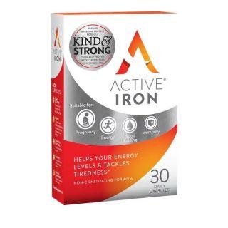 Active Iron Συμπλήρωμα Διατροφής Ενεργού Σιδήρου 30Caps
