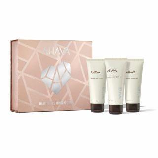 Ahava Head to toe Mineral Trio - Mineral Body Lotion 100ml, Mineral Hand Cream 100ml & Mineral Shower Gel 100ml