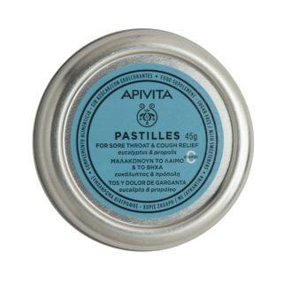 Apivita Pastilles Eucalyptus & Propolis 45gr Παστίλιες με Ευκάλυπτο & Πρόπολη