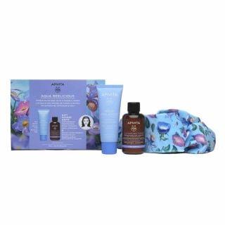 Apivita Promo Aqua Beelicious Comfort Hydrating Cream 40ml Ενυδατική Κρέμα Πλούσιας Υφής & ΔΩΡΟ Cleansing Face & Eyes Foam 75ml + Κορδέλα Μαλλιών