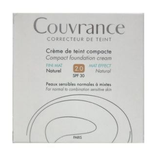 Avene Couvrance Creme de Teint Compacte FINI MAT SPF30 10gr 2.0 Naturel Make-up