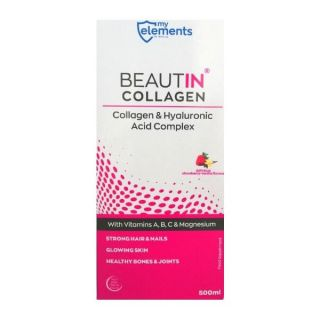 My Elements Beautin Collagen 500ml Πόσιμο Κολλαγόνο Βανίλια - Φράουλα