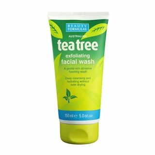 Beauty Formulas Tea Tree Exfoliating Facial Wash 150ml