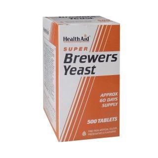 Health Aid Brewers Yeast 500 Tabs