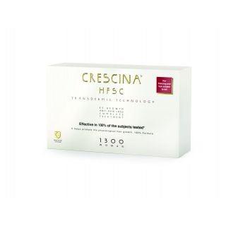 Crescina HFSC 100% 1300 Complete Woman (10+10 Vials) Θεραπεία Ανάπτυξης Μαλλιών & Κατά της Τριχόπτωσης για Γυναίκες