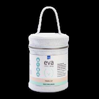 Intermed Eva Intima Travel Kit Daily Wellness Liquid Cleanser 60ml & Foaming Wash 50ml & Pocket Size Towelettes 10τμχ