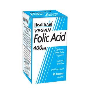 Health Aid Folic Acid 400μg 90 Tabs Φολικό Oξύ