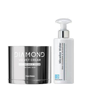 Frezyderm Πακέτο Προσφοράς Diamond Velvet Cream Anti-Wrinkle 50ml + Micellar Water Deep Cleansing & Detoxifying 200ml