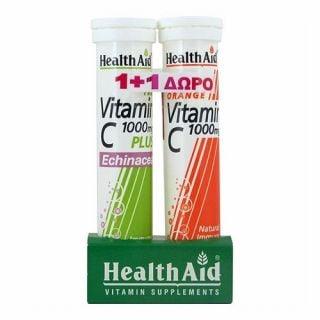 Health Aid Echinacea + Vitamin C 20 Tabs  + Vitamin C 1000mg 20 Tabs