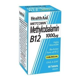 Health Aid Methylcobalamin Metcobin B12 1000mg 60 Tabs