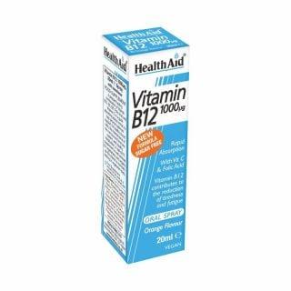 Health Aid Vitamin B12 1000μg Oral Spray Πορτοκάλι 20ml