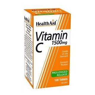 Health Aid Vitamin C 1500mg Prolonged Release 100 Tabs Βραδείας Αποδέσμευσης