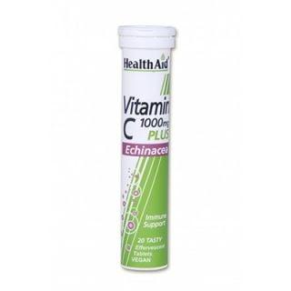 Health Aid Echinacea + Vitamin C Λεμόνι 20 Tabs