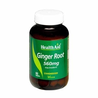 Health Aid Ginger Root 560mg 60 Tabs