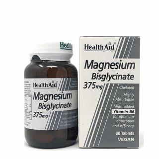 Health Aid Magnesium Bisglycinate 375mg & Vitamin B6 60 Tabs