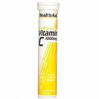 Health Aid Vitamin C 1gr Lemon 20 Tabs