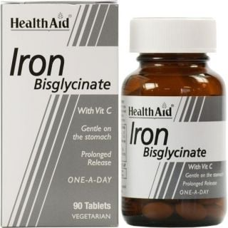 Health Aid Iron Bisglycinate 30mg 90 Tabs