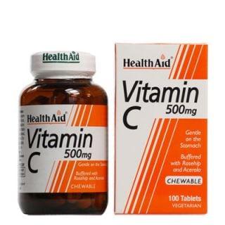 Health Aid Vitamin C 500mg Chewable 100 Tabs