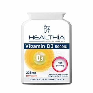 Healthia Vitamin D3 5000IU 100 Tabs