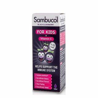 Higher Nature Sambucol Black Elderberry For Kids with Vitamin C 120ml