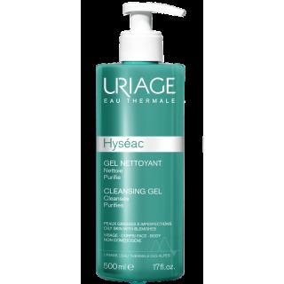 Uriage Hyseac Cleansing Gel 500ml Τζελ για Βαθύ Καθαρισμό
