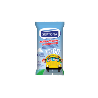 Septona Antibacterial Hand Wipes Kids on the Go 15 Items