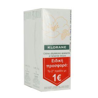 Klorane Creme Depilatoire a L'Amande Douce 2 x 75ml