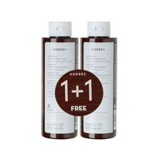 Korres Shampoo almond and Linseed 2 x 250ml