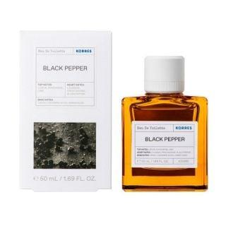 Korres Eau De Toilette Black Pepper Ανδρικό Άρωμα Μαύρο Πιπέρι, 50ml