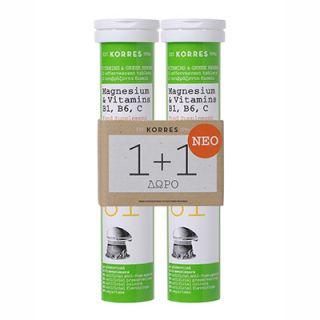 Korres Magnesium and Vitamin Β1, Β6, C 2 x 12
