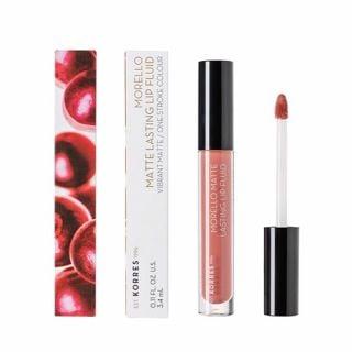 Korres Morello Matte Lasting Lip Fluid 3.4 ml 06 Romantic Nude