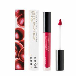 Korres Morello Matte Lasting Lip Fluid 3.4 ml 27 Cranberry Sorbet