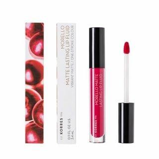 Korres Morello Matte Lasting Lip Fluid 3.4 ml 29 Strawberry Kiss