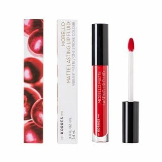 Korres Morello Matte Lasting Lip Fluid 3.4 ml 53 Red Velvet