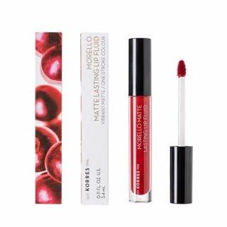 Korres Morello Matte Lasting Lip Fluid 3.4 ml 59 Brick Red