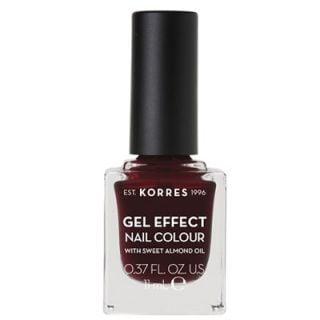 Korres Gel Effect Nail Colour 57 Burgundy Red 11ml