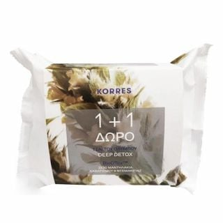 Korres Olympus Tea Cleansing Wipes 2 x 30