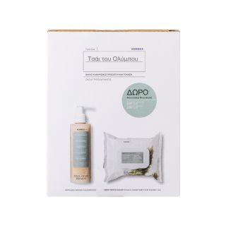 Korres Promo Τσάι του Ολύμπου Cleansing Foaming Cream 200ml Αφρώδης Κρέμα Καθαρισμού + Δώρο Deep Detox Μαντηλάκια Καθαρισμού & Ντεμακιγιάζ 30 Τεμάχια