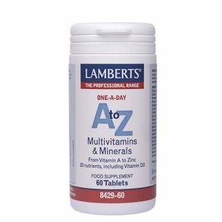 Lamberts A-Z Multivitamins 60 Tabs