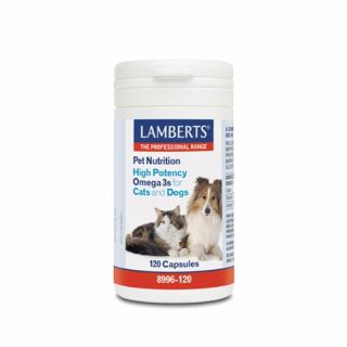 Lamberts Pet Nutrition High Potency Omega 3 for Cats/Dogs 120 Caps