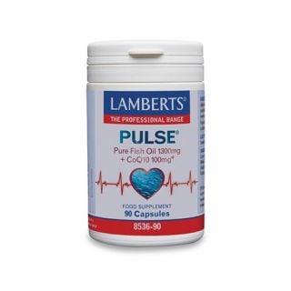 Lamberts Pulse Pure Fish Oil 1300mg & CoQ10 100mg 90 Caps
