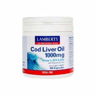 Lamberts Cod Liver Oil 1000mg 180 Caps