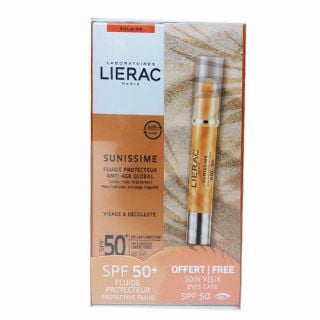 Lierac Sunissime Fluide Protecteur Anti-Age Global SPF50+ 40ml + Soin Protecteur Yeux SPF50 3gr