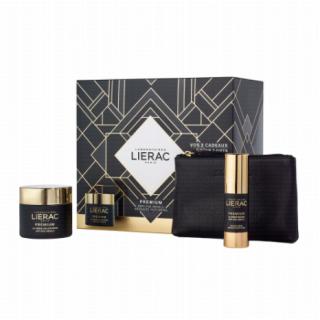 Lierac Premium Creme Voluptueuse 50ml Πλούσια Κρέμα Αντιγήρανσης + Yeux Creme Regard 15ml Κρέμα Ματιών Αντιγήρανσης και Σύσφιξης + Δερμάτινο Πορτοφόλι