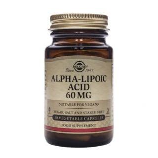 Solgar Alpha Lipoic Acid 60mg 30 Caps