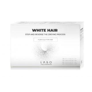 Labo White Hair Treatment Formula for Men 20 Vials x 3.5ml Φόρμουλα για Άνδρες που Σταματά την Ανάπτυξη Λευκών & Γκρίζων Τριχών και Επαναφέρει το Φυσικό Χρώμα