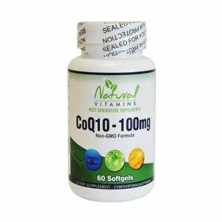 Natural Vitamins CoQ10 100mg 60 Softgels