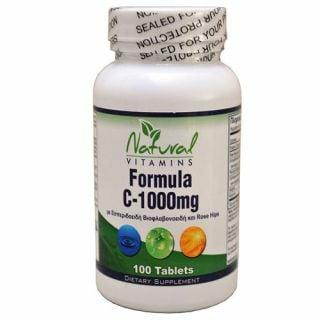 Natural Vitamins Formula C 1000mg 100 Tabs