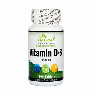Natural Vitamins Vitamin D-3 1500 IU 100 Tabs