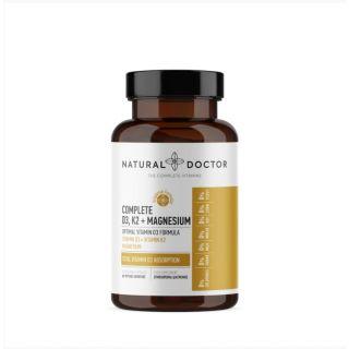 Natural Doctor Complete D3, K2 & Magnesium 60 Caps Συνεργιστική Σύνθεση με Βιταμίνη D3 2000IU, Μαγνήσιο & Βιταμίνη K2